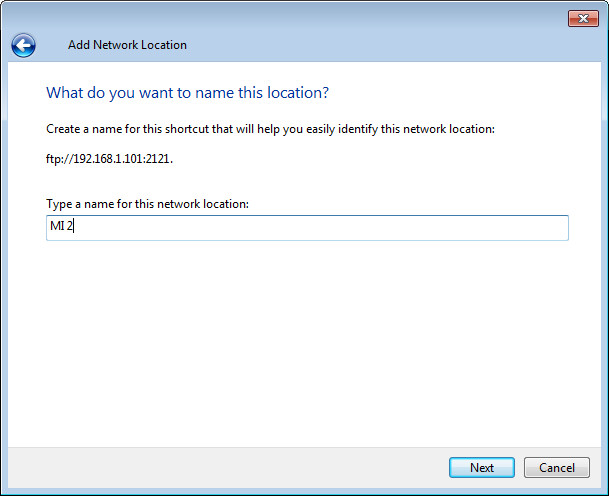 add network location step4