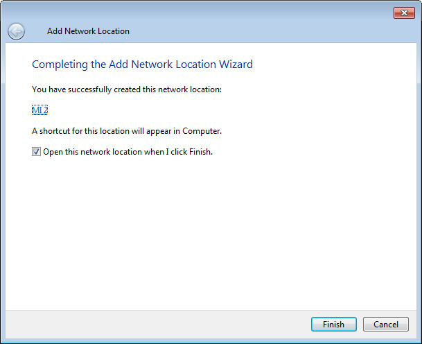 add network location step5