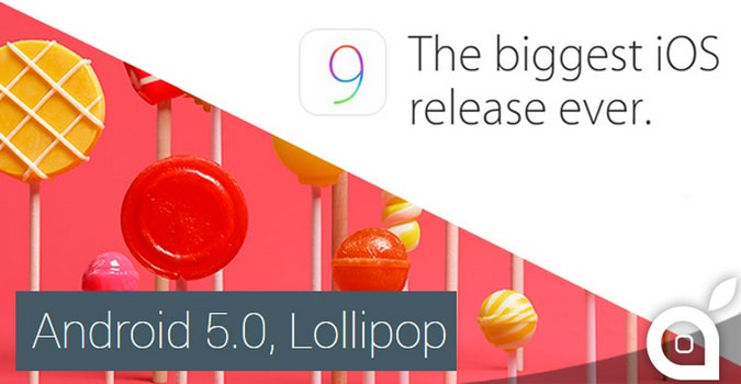 android 5.0 vis ios9