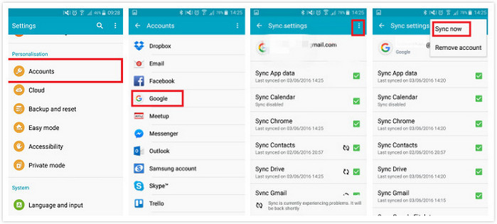 Backup Android Data to Google Account