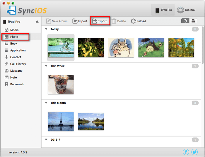 Backup iPad Camera Roll to Mac for Free