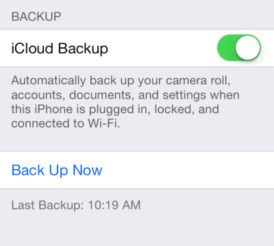 Backup iPhone Contacts with iCloud Now