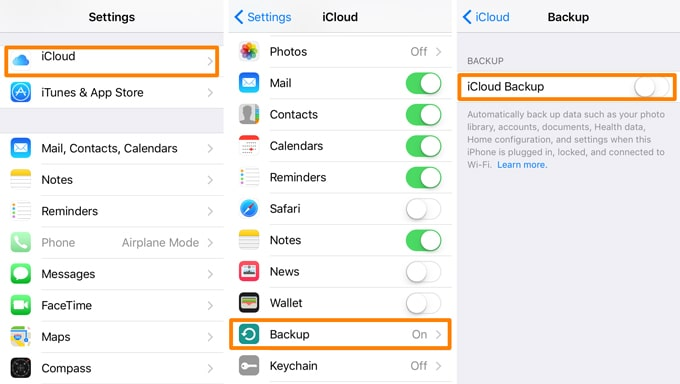 backup iphone se whatsapp with icloud backup
