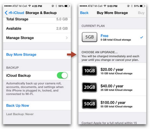 how to buy more storage on iphone 5 ways to free up icloud storage 2148