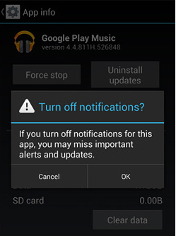 Close Android app notification