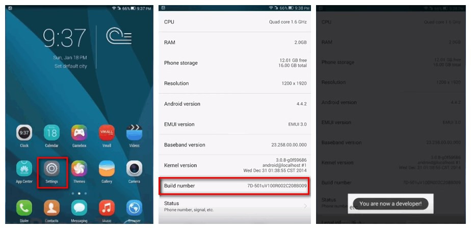 How to Enable USB Debugging on Huawei Ascend P7/P8/P9(Plus)/P10(Plus)