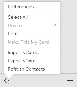 Export Contacts as vCard File