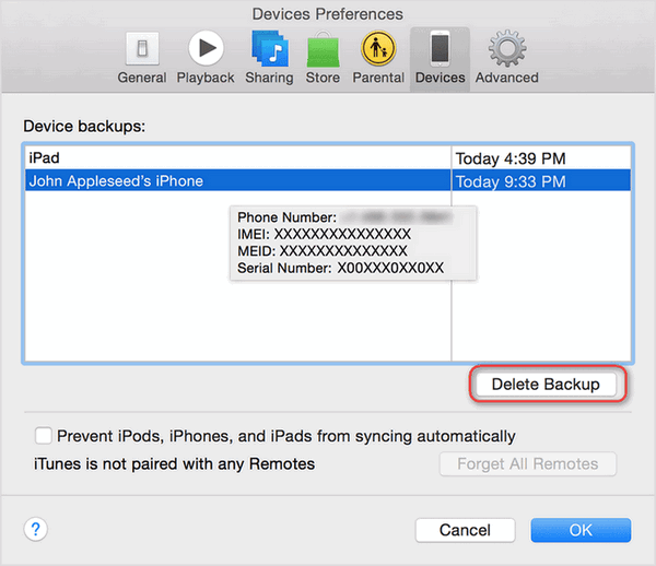 Access To ITunes Backup