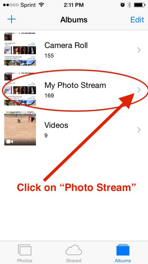 how to delete pictures from photostream