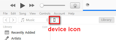 device icon in iTunes
