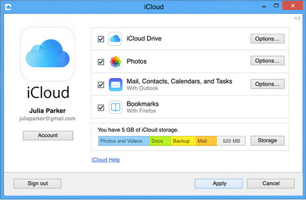 How to find icloud backup on computer