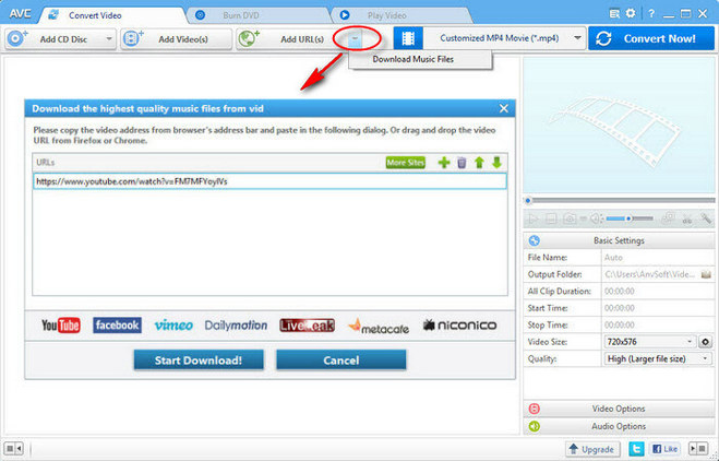 Download Music Files with Any Video Converter