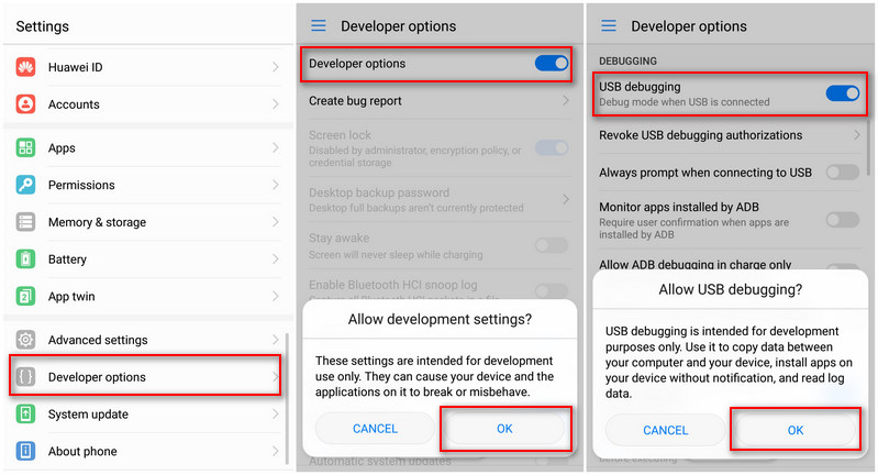 How to Enable USB Debugging on Huawei Honor 9