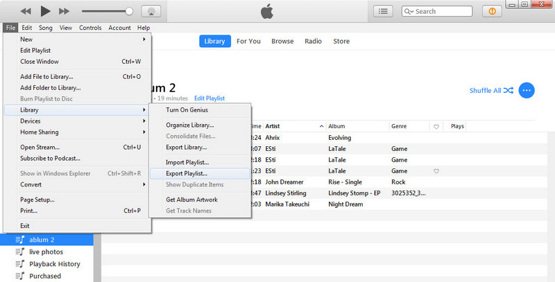 how to send itunes playlist