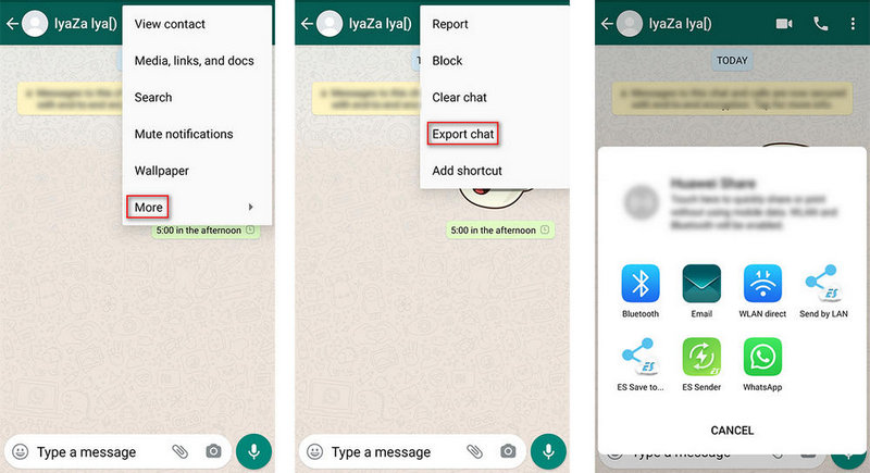 export whatsapp messages to Samsung Galaxy S21