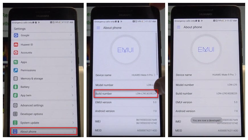 How to Enable USB Debugging Mode on Huawei Mate 9/7/8?