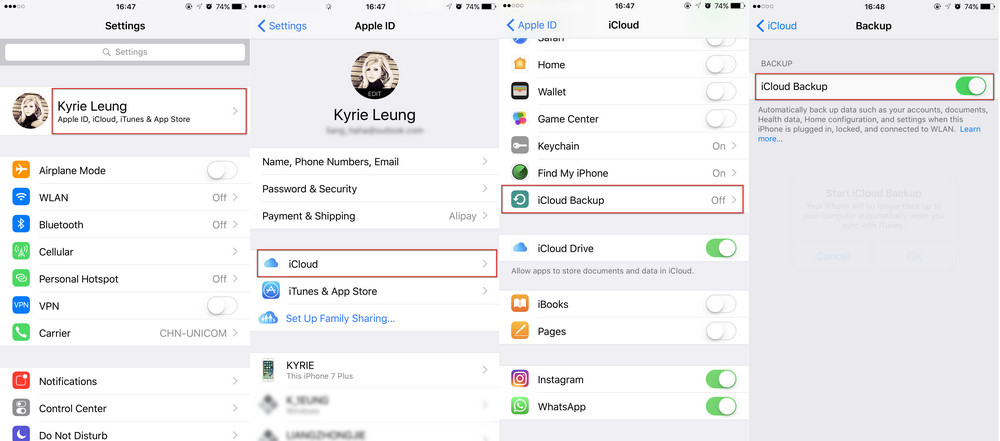How To Backup Photos From Iphone To Icloud >> How To Backup Iphone Ipad Before Upgrading To Ios 11