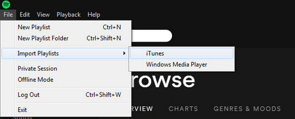 Import iTunes Music Files to Spotify
