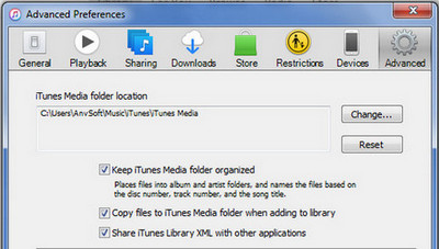 Set iTunes Preferences