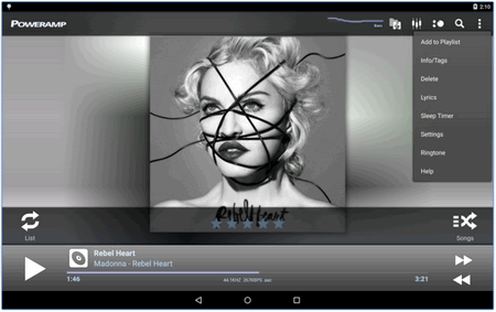 poweramp music app for Android