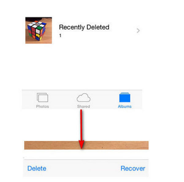 recover iOS photos from Recently Deleted Folder
