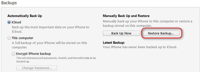 how to delete itune backup data