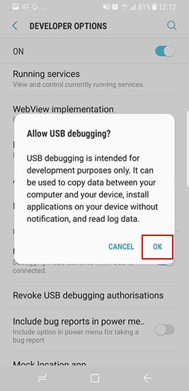 How to Debug Samsung Galaxy S8/S8 Plus