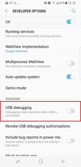 How to Debug Samsung Galaxy S8/S8 Plus