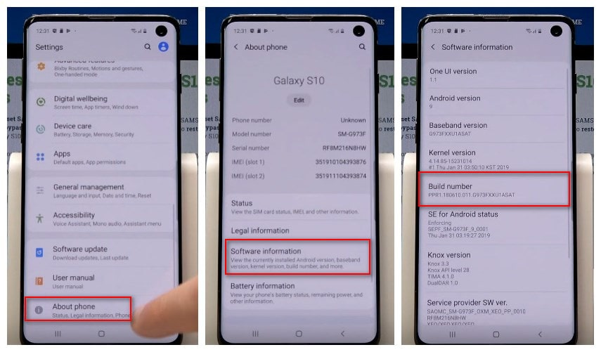 How to Enable USB Debugging Mode on Samsung Galaxy S10
