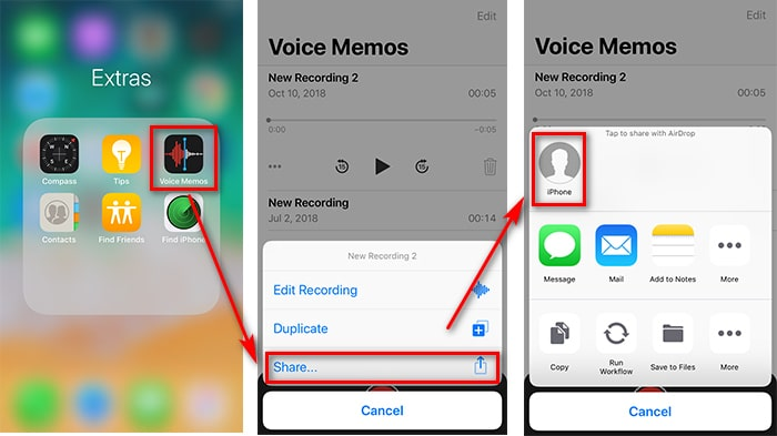 4 Ways to Transfer Voice Memos between iPhone X/XS/XS Max/XR Voice