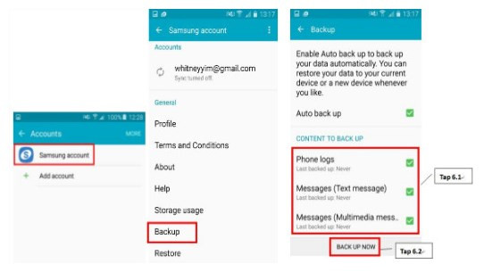 How to Backup Samsung Galaxy S8/S8 Plus Messages