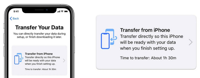 transfer data to iphone 11