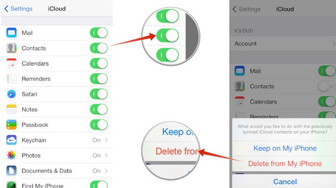 how do i delete email contacts from my iphone