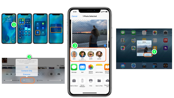 transfer iPhone XS photos to iPad via AirDrop