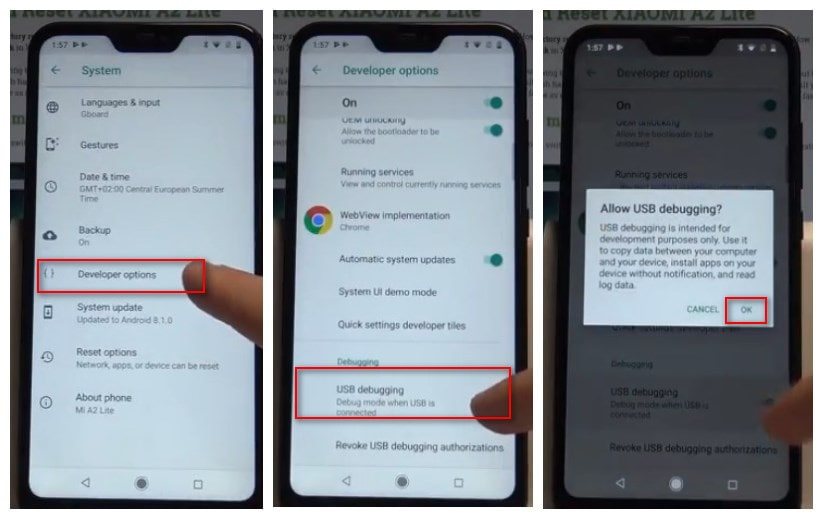 How to Enable Developer Options and USB Debugging on Xiaomi Mi A2