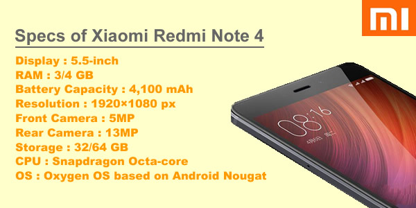 xiaomi redmi note 4 feature