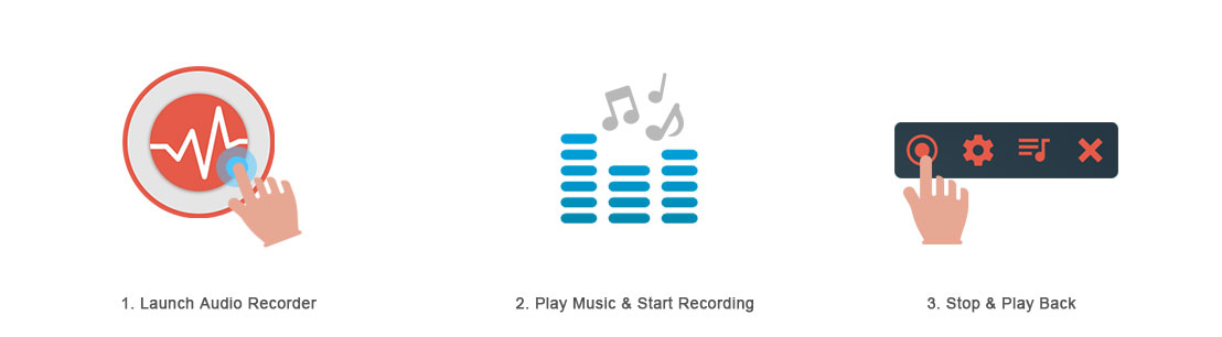 3 steps to record audio