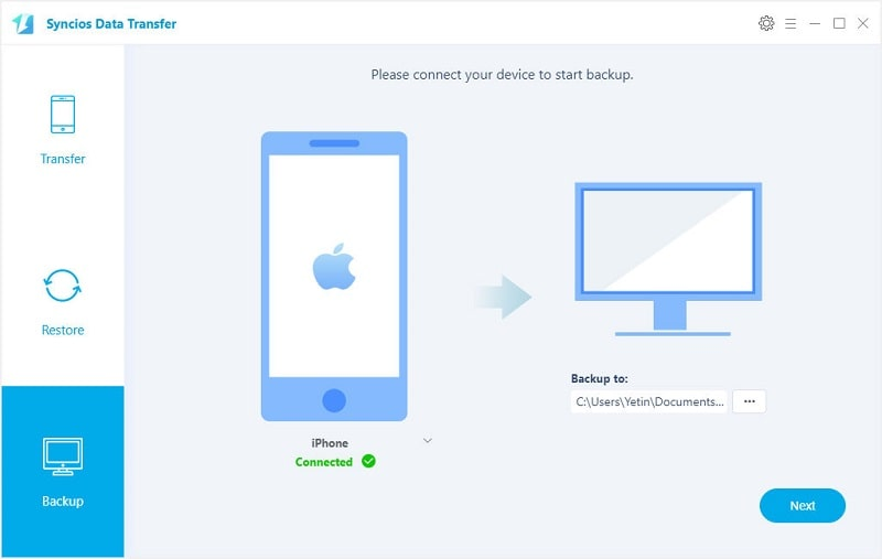 one-click backup iphone 7 photos to pc