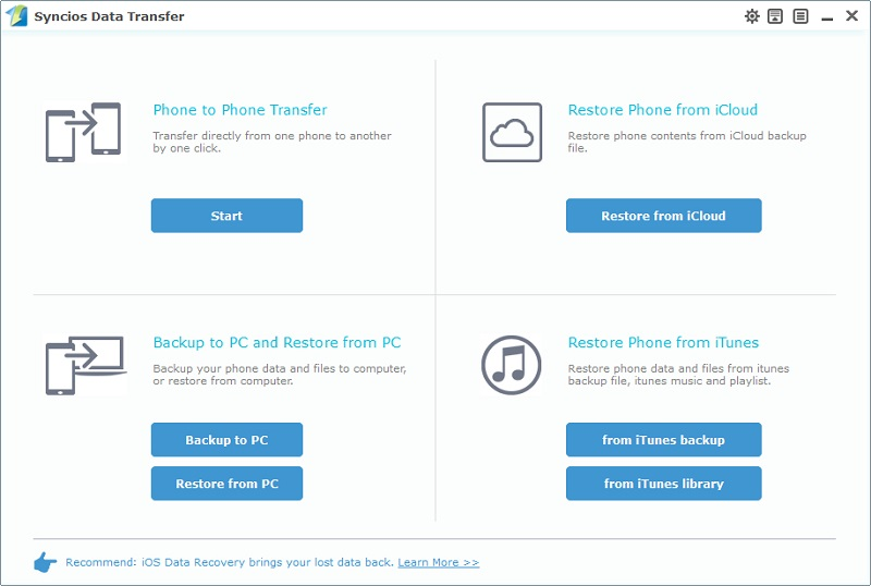 Phone Data Transfer Homepage