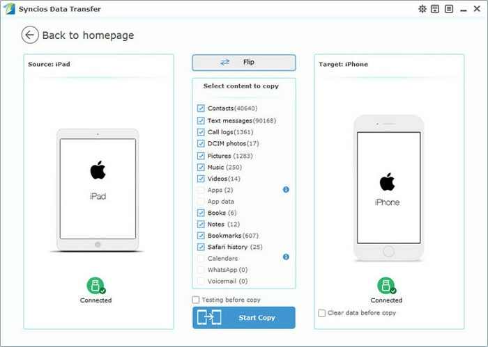 transfer files from iPad to iPhone