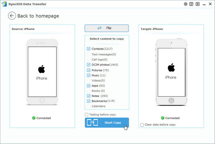 Syncios iphone Transfer