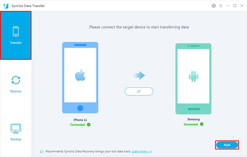 iPhone to Samsung data transfer