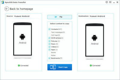 sync data from old android to Huawei P9/P9 Plus
