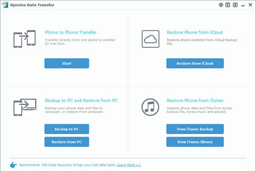 transfer ipod music to pc with syncios data transfer step2