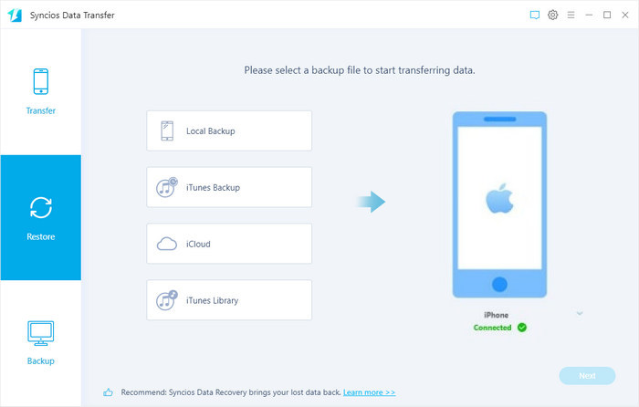 recover data from iTunes