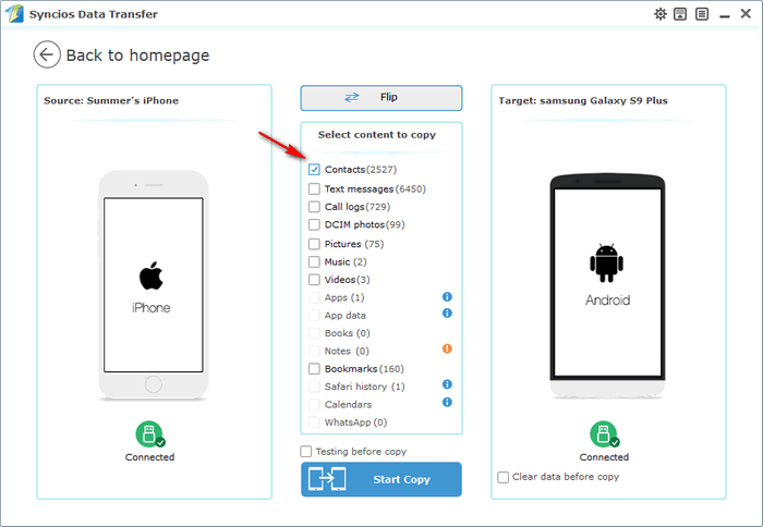 Transfer Contacts From Iphone To Galaxy S
