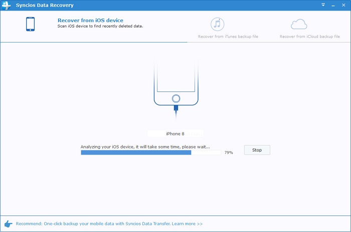 connect ios device to syncios data recovery