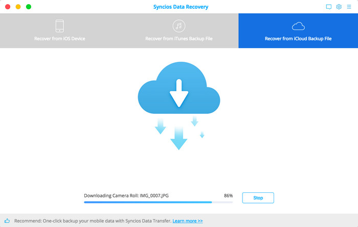 access and download icloud data