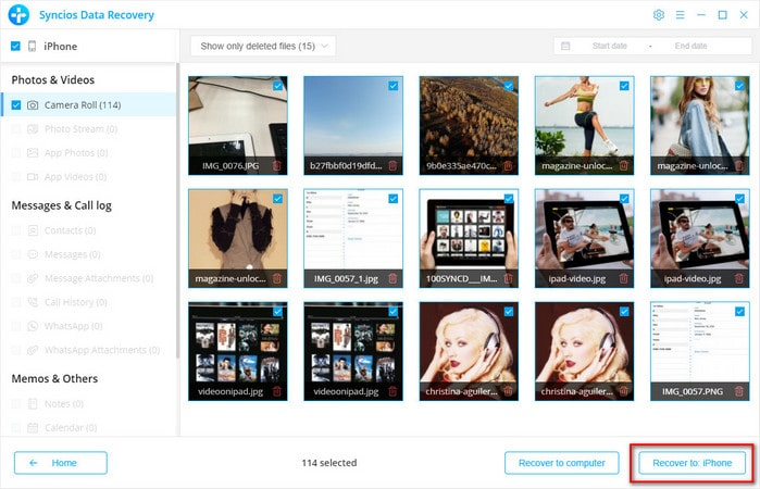 recover icloud data to iphone