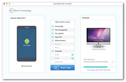 android to mac transfer